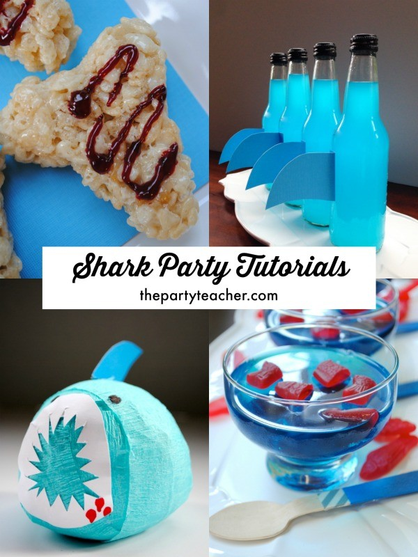 4 shark party tutorials by The Party Teacher