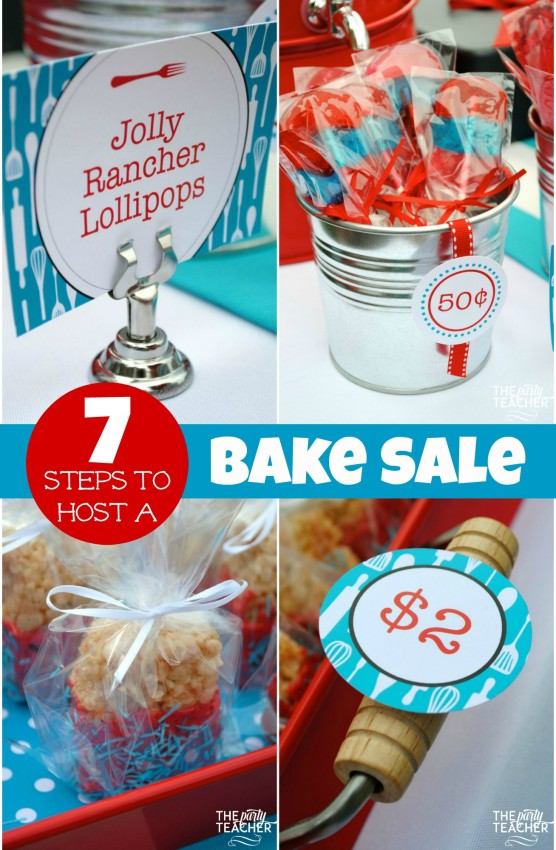 7 Steps to Host a Charity Bake Sale by The Party Teacher