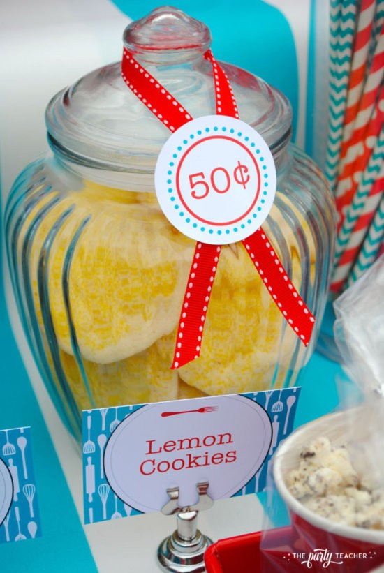 Bake Sale by The Party Teacher-lemon cookie for 50 cents
