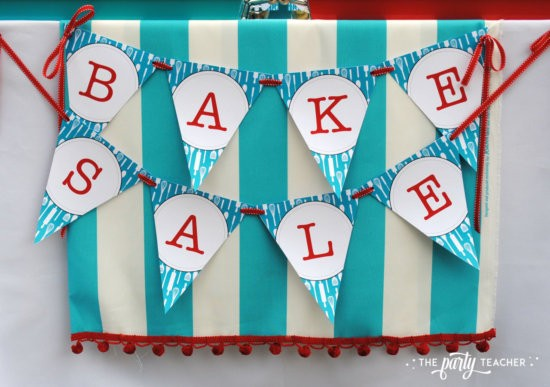 Bake Sale by The Party Teacher-printable banner by Chickabug