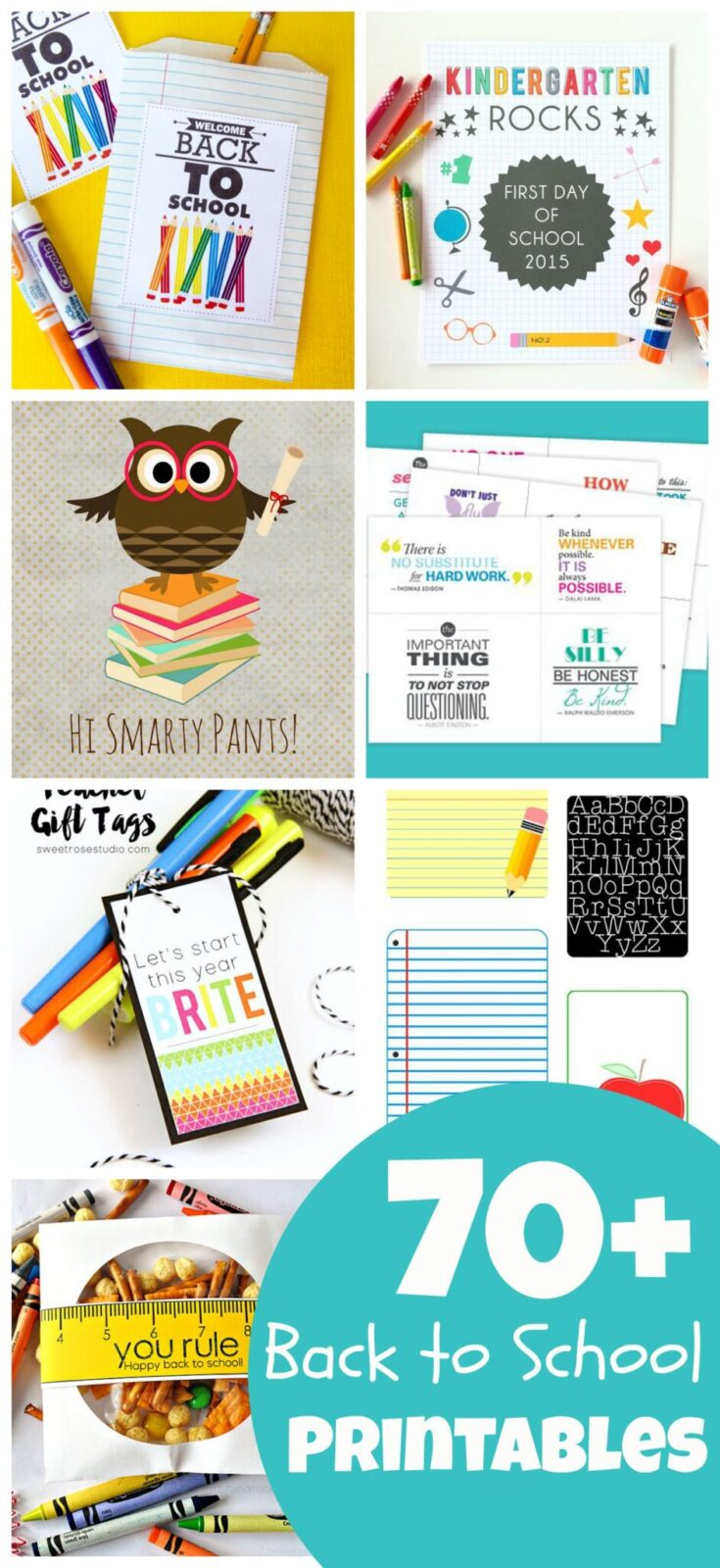 Massive collection of 70+ back to school printables  The Party Teacher