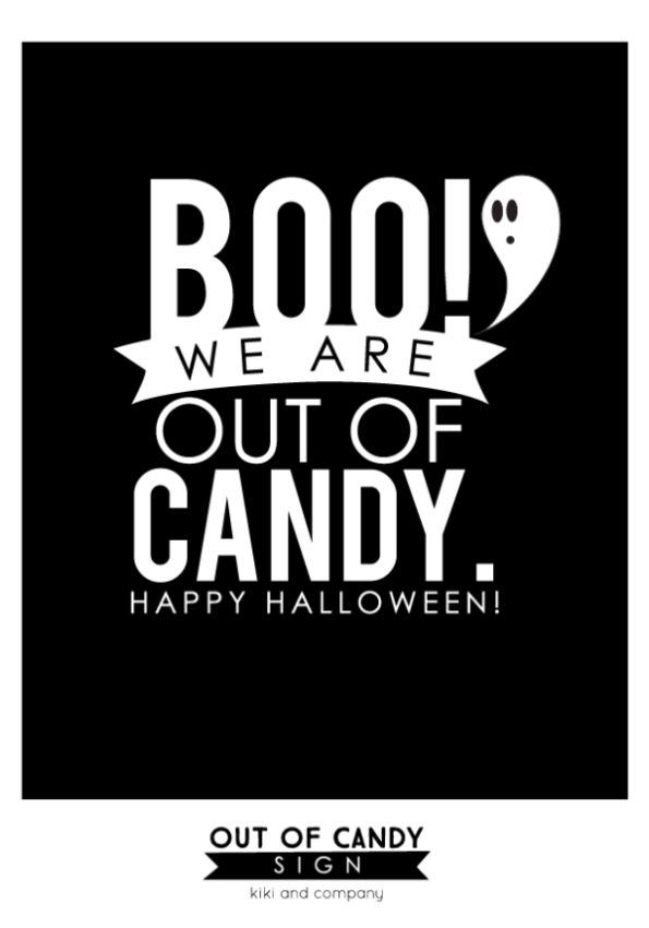 picture about Happy Halloween Signs Printable titled Freebie Friday: 12 Free of charge Printable \