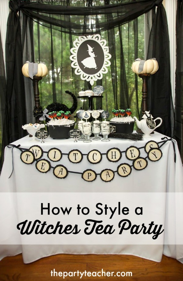 How to Style a Witch's Tea Party by The Party Teacher