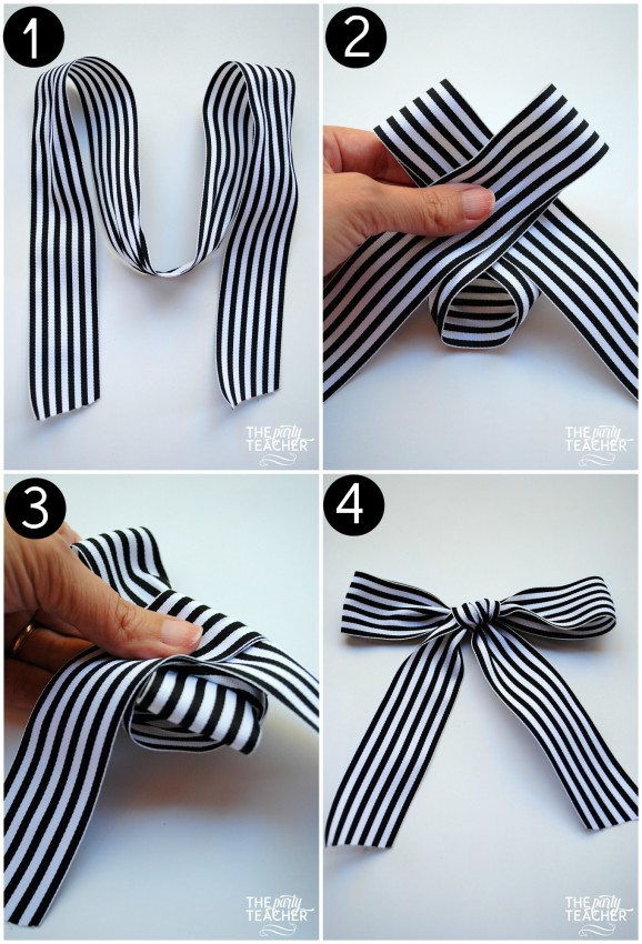 Tutorial how to tie the perfect bow the party teacher how to tie the perfect bow in 4 steps by the party teacher ccuart Gallery