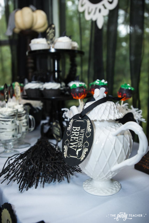 Witch's Tea Party by The Party Teacher-dessert table