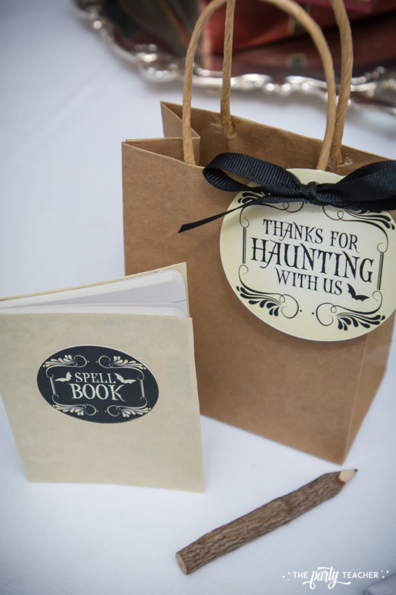Witch's Tea Party by The Party Teacher-spell book party favor