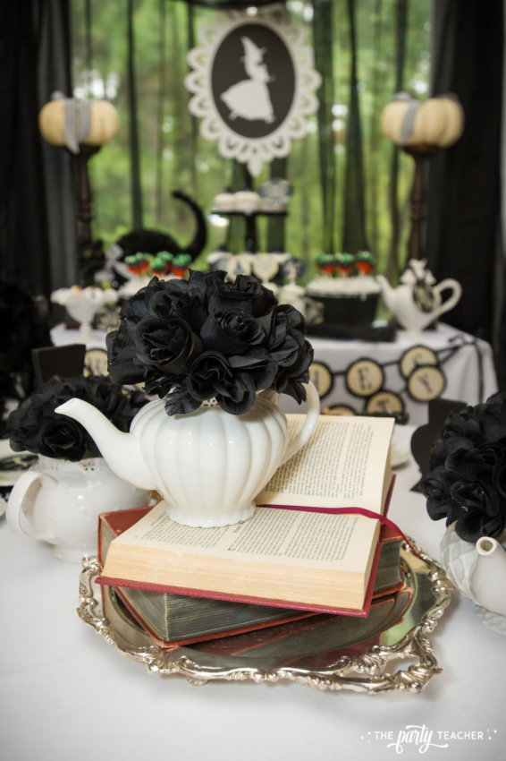 Witch's Tea Party by The Party Teacher-centerpiece