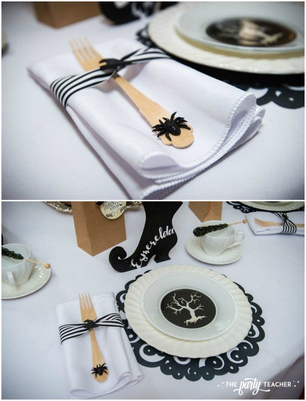 Witch's Tea Party by The Party Teacher - place setting