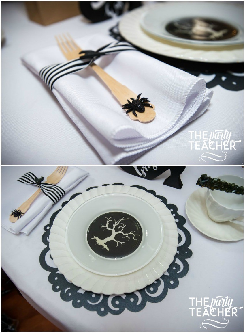 Witch's Tea Party by The Party Teacher-placesetting