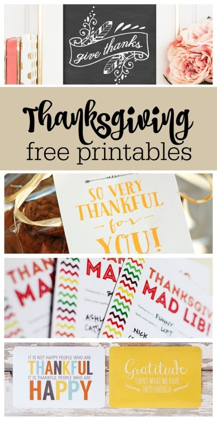 35 Thanksgiving free printables from The Party Teacher