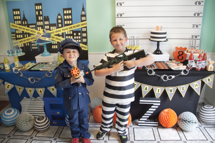 Cops and Robbers Party by Sparkling Sweets Boutique