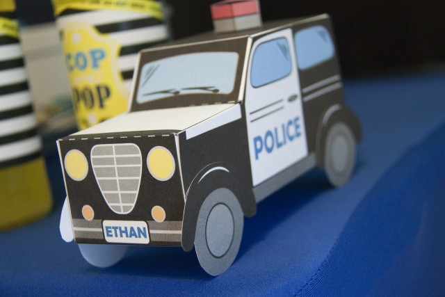 Police car favor box - Cops and Robbers Party by Sparkling Sweets Boutique-9