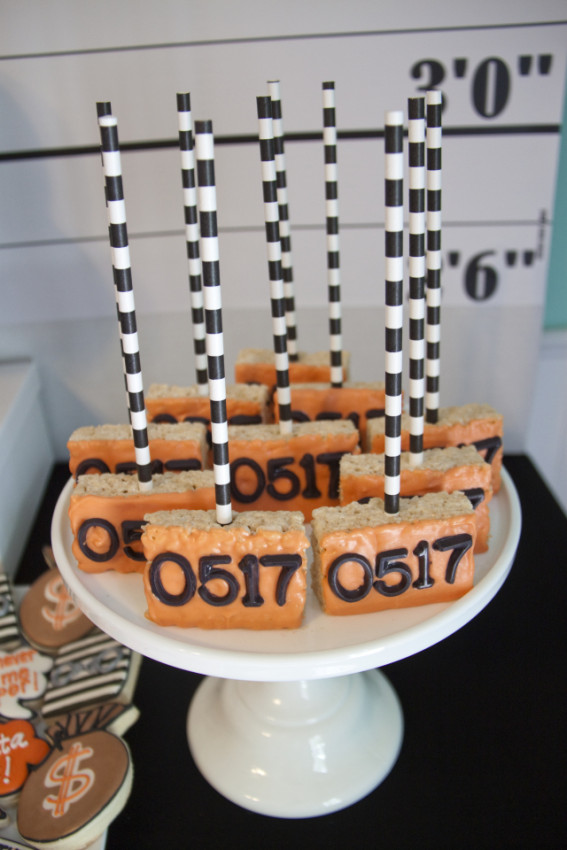 Robbers Rice Krispies Treats - Cops and Robbers Party by Sparkling Sweets Boutique-17