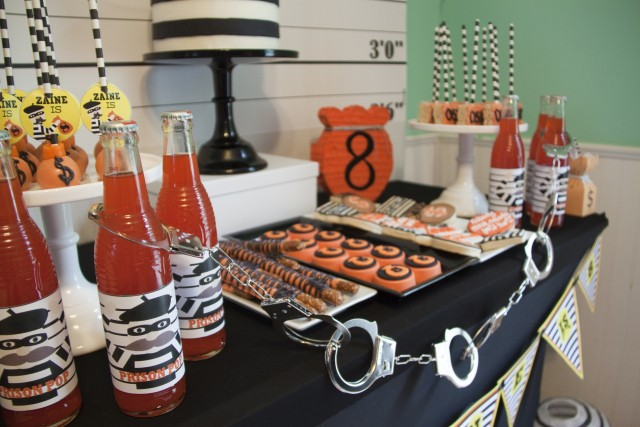 Robbers dessert table - Cops and Robbers Party by Sparkling Sweets Boutique-10