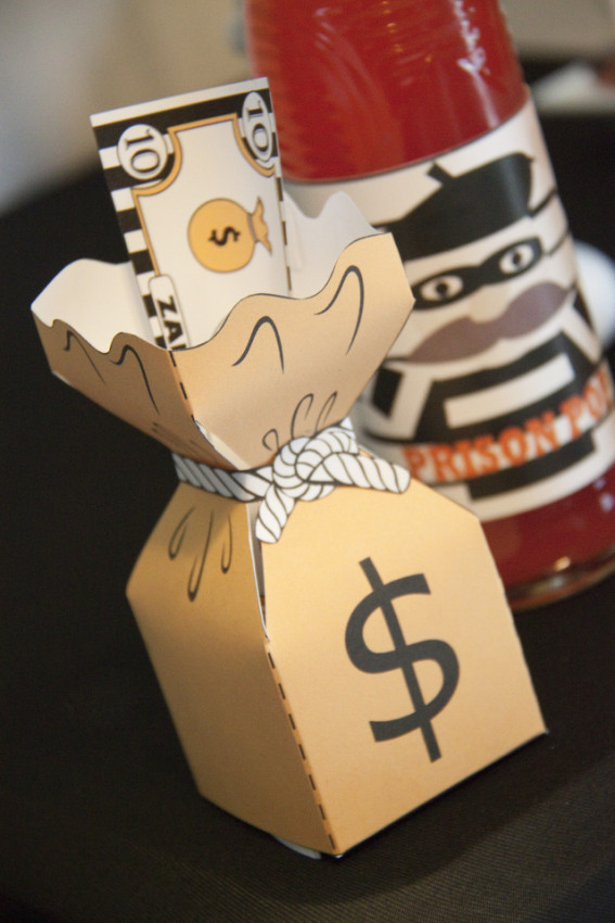 Robbers money bag favor boxes - Cops and Robbers Party by Sparkling Sweets Boutique-19
