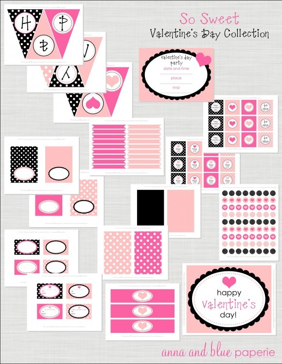 picture about Happy Valentines Day Banner Printable identify Freebie Friday: 28 No cost Valentines Printable Banners - The