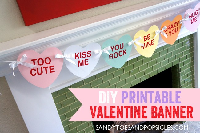 FF Sandy Toes and Popsicles Valentines Day Banner