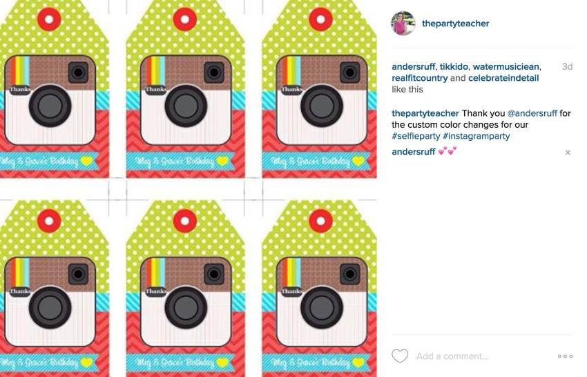 Instagram printables selfie party