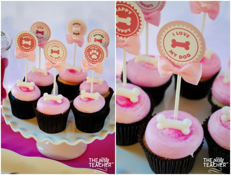 Puppy Party cupcakes - The Party Teacher