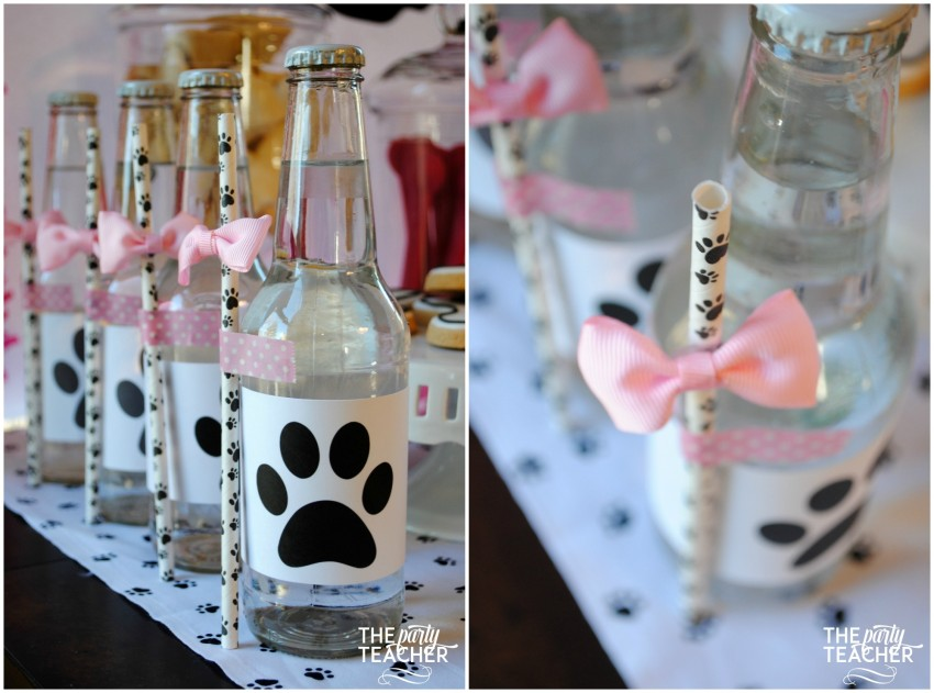 Puppy party paw print straws - The Party Teacher