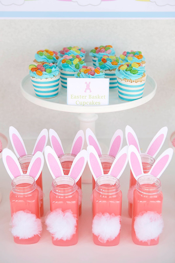 Easter-Party-Ideas bunny tail drinks by Lillian Hope Designs