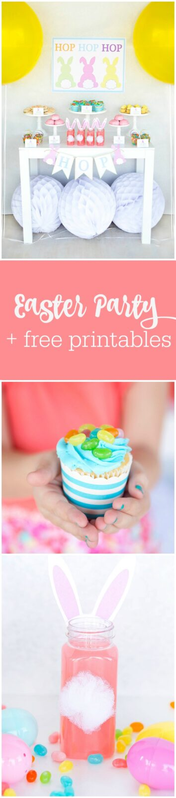 Easter party + free printables by Lillian Hope Designs featured on The Party Teacher