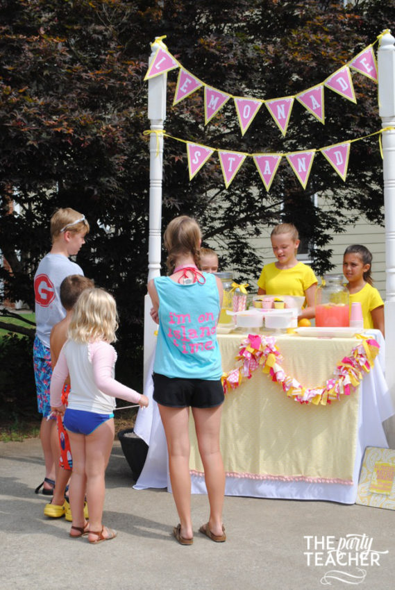 Pink Lemonade Stand by The Party Teacher - 26