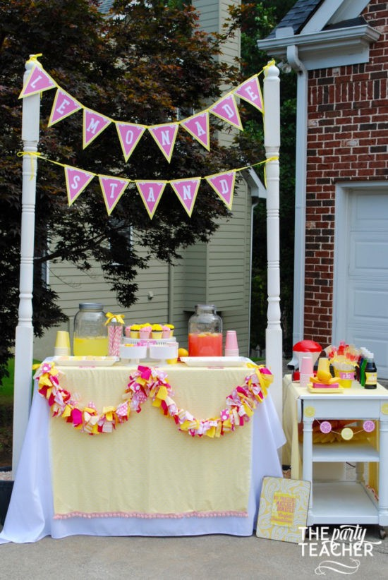 Pink Lemonade Stand by The Party Teacher - 6
