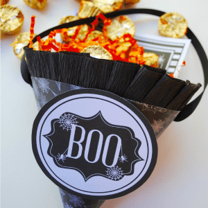 DIY Halloween Treat Cones – 3 Fast and Easy Ways!