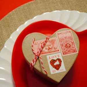 My Parties: Brown Paper Packages Tied Up In String Valentine's Day Party