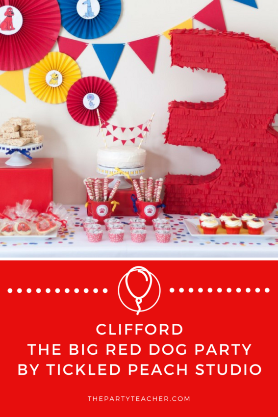Clifford the Big Red Dog Party by Tickled Peach Studio featured on The Party Teacher