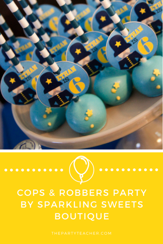 Cops and Robbers Party by Sparkling Sweets Boutique featured on The Party Teacher