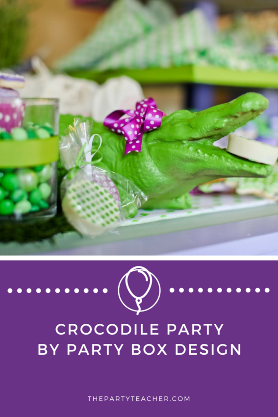Crocodile Party by Party Box Design featured on The Party Teacher