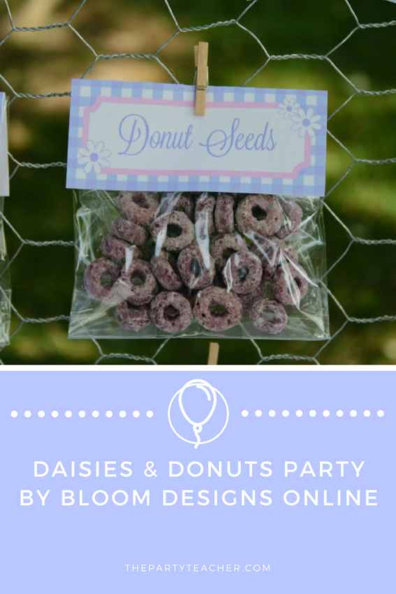 Daisies and Donuts Party by Bloom Designs Online featured on The Party Teacher