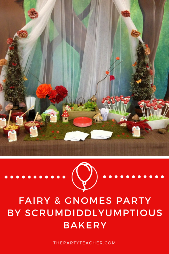 Fairy and Gnomes Party by Scrumdiddlyumptious Bakery featured on The Party Teacher