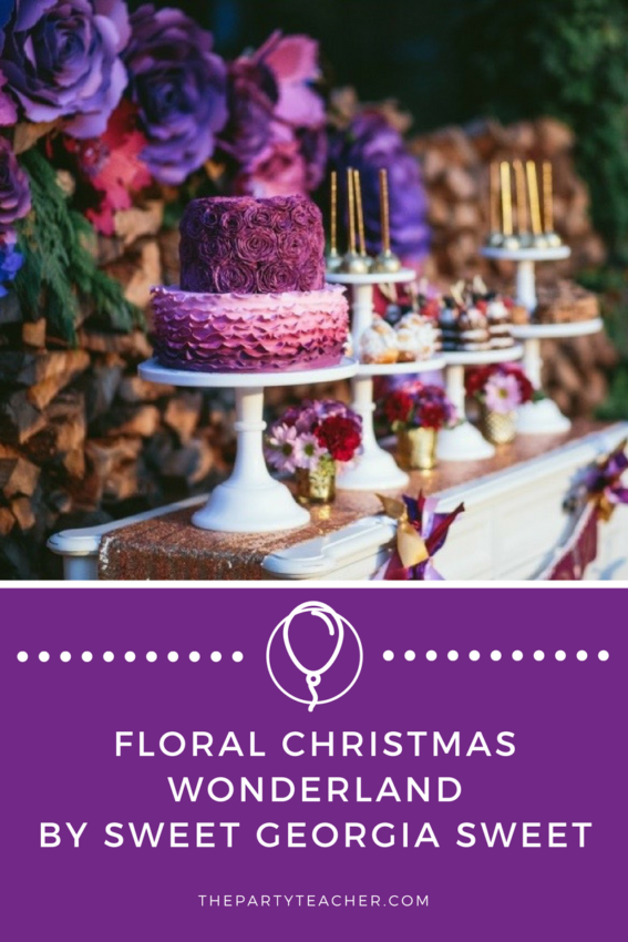Floral Christmas Wonderland Party by Sweet Georgia Sweet featured on The Party Teacher