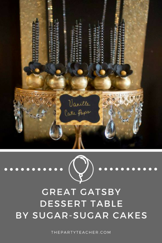 Great Gatsby Dessert Table by Sugar-Sugar Cakes featured on The Party Teacher