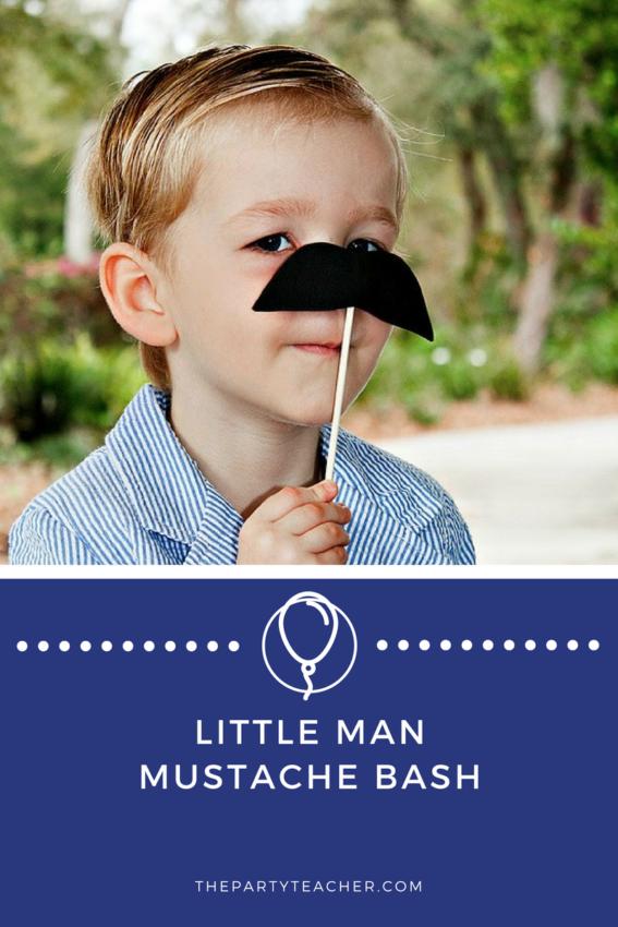 Little Man Mustache Bash featured on The Party Teacher