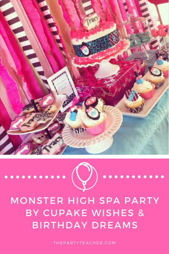 Monster High Spa Party by Cupcake Wishes and Birthday Dreams by The Party Teacher