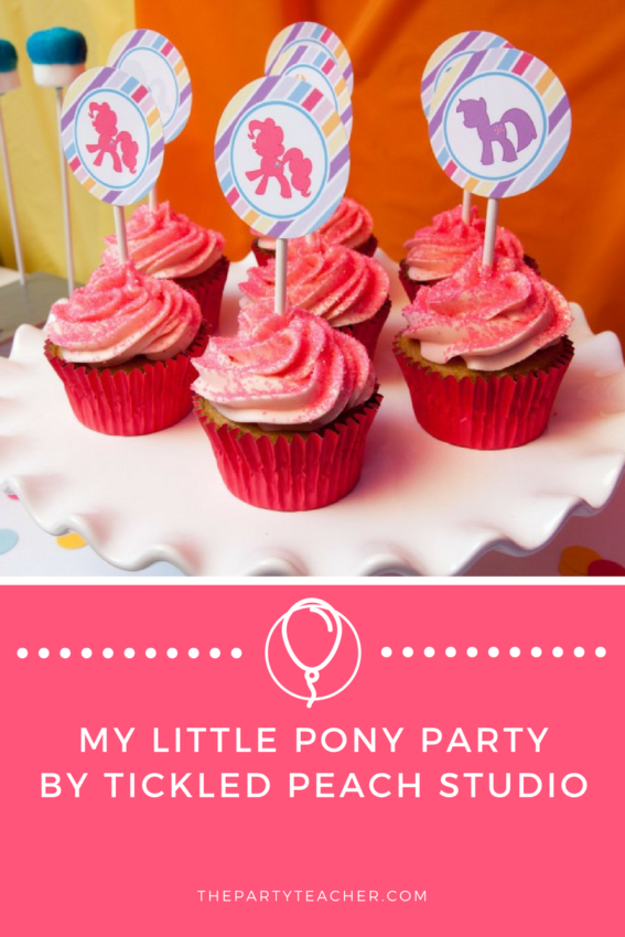 My Little Pony Party by Tickled Peach Studio featured on The Party Teacher