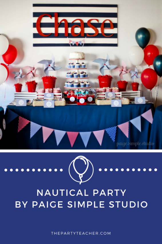 Nautical First Birthday Party by Paige Simple Studio