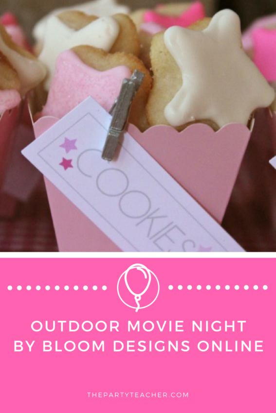 Outdoor Movie Night by Bloom Designs Online featured on The Party Teacher