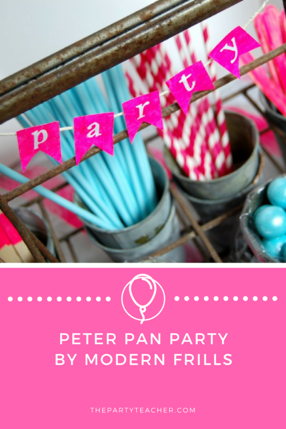 Peter Pan Party by Modern Frills featured on The Party Teacher