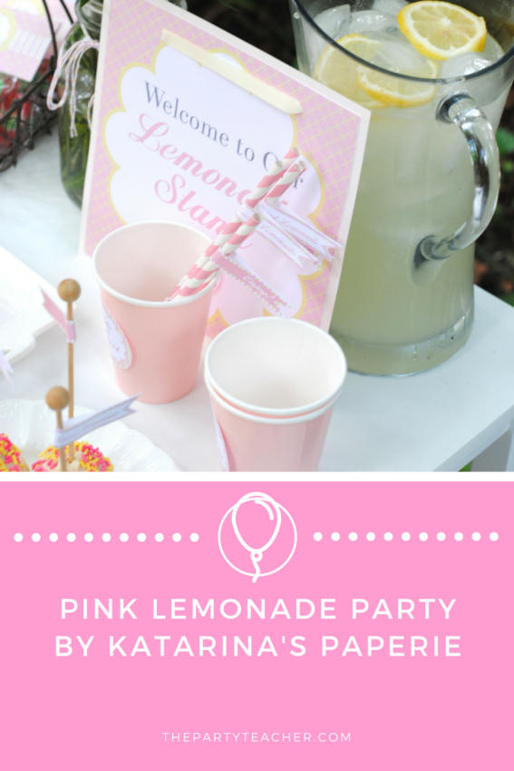 Pink Lemonade Party by Katarina's Paperie featured on The Party Teacher