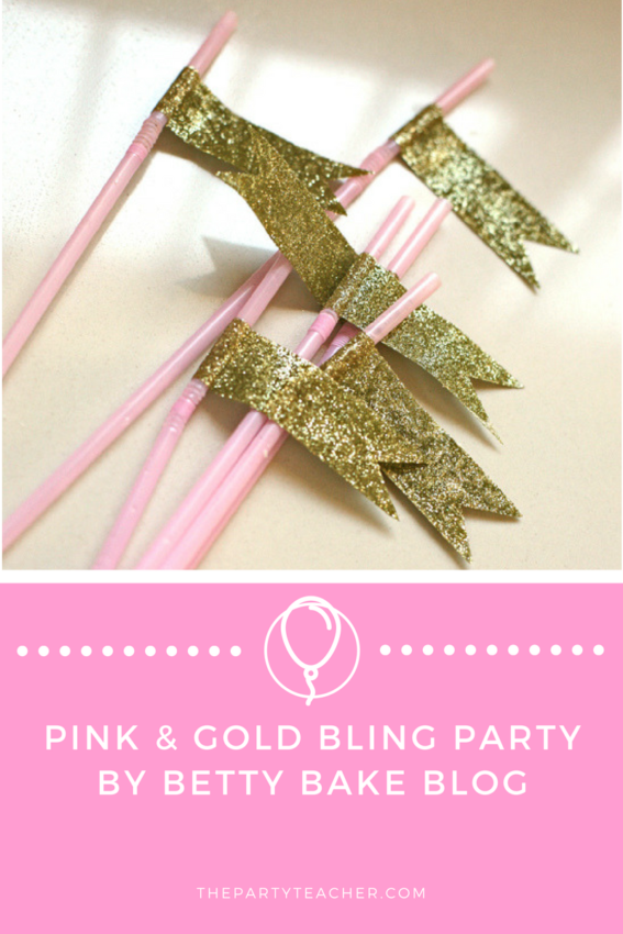 Pink and Gold Bling Party by Betty Bake Blog featured on The Party Teacher