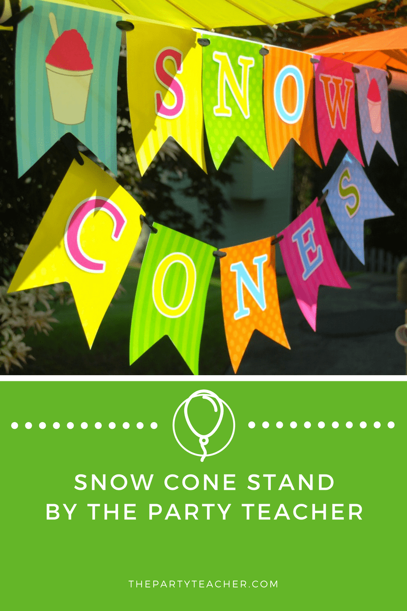 Snow Cone Stand Party