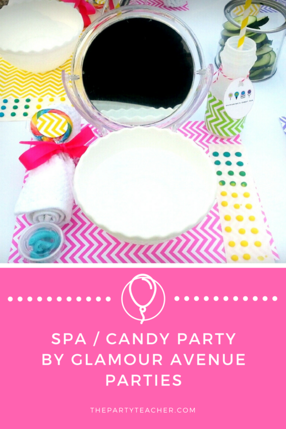 Spa Candy Party by Glamour Avenue Parties featured on The Party Teacher