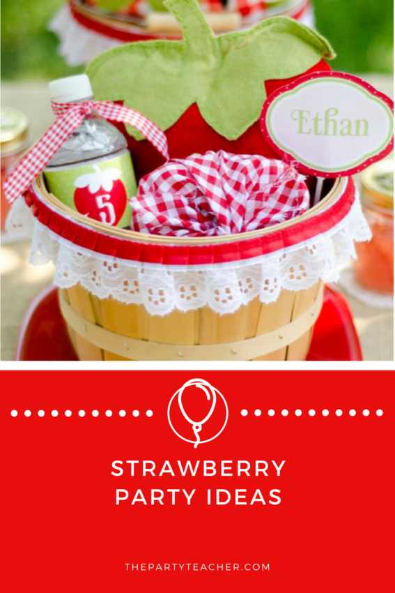 Strawberry Party Ideas featured on The Party Teacher