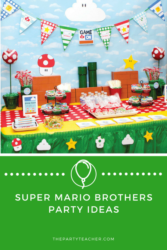Super Mario Brothers Party Ideas featured on The Party Teacher
