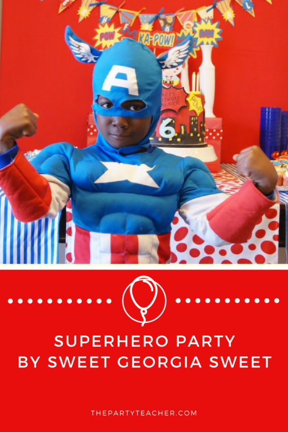 Superhero Party by Sweet Georgia Sweet featured on The Party Teacher